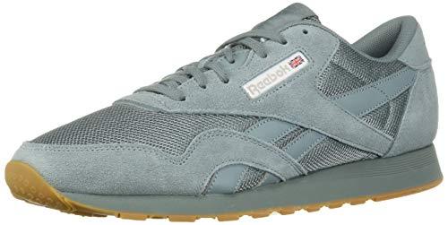 (Reebok Men's Classic Nylon Sneaker Teal Fog/White/Skull Grey 10 M US)