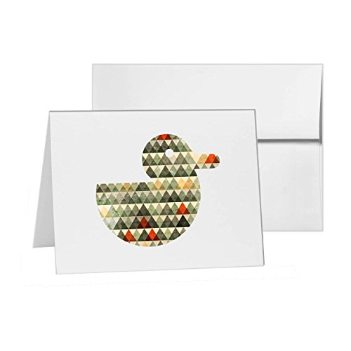 Rubber Duck Animal Bird Birdie, Blank Card Invitation Pack, 15 cards at 4x6, Blank with White Envelopes Style 18461 (Birdie Greeting Cards)