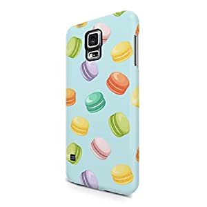 French Macarons Pastel Tumblr Print Pattern Hard Plastic Samsung Galaxy S5 Phone Case Cover