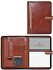 A4 BROWN LEATHER FOLDER