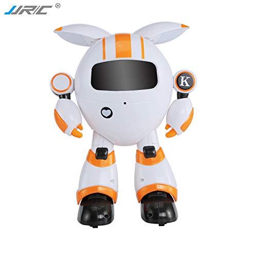 orange RONSHIN Smart RC Robot Programmable Sing Tell Story Dance Recording Shining Light Toy for Kids orange