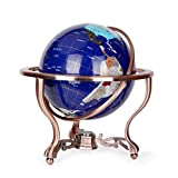Starsou World Globe – Educational/Geographic/Modern Desktop Decoration - with a Metal Base - sapphire - 13inches -Model JSL029-33