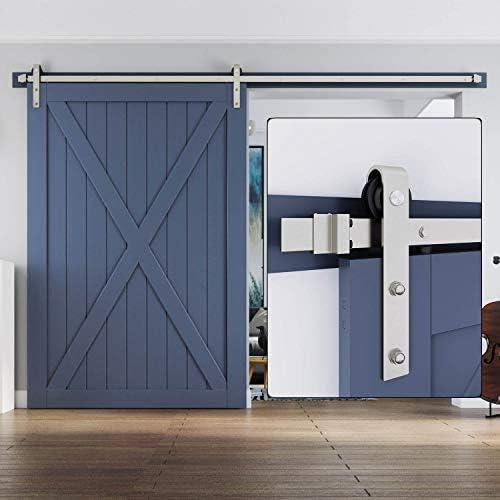 Kit de rieles para puerta corredera, color gris níquel: Amazon.es: Bricolaje y herramientas