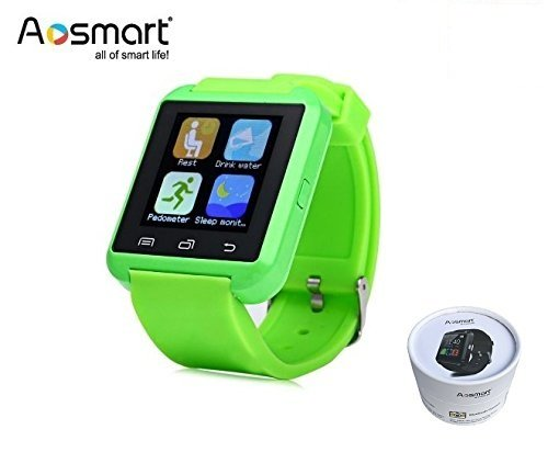 Bluetooth Smart Watch, Aosmart U8 Smartwatch for Android Smartphones - Green
