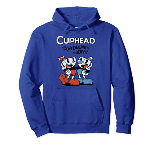 Cuphead & Mugman Don't Deal With The Devil Graphic Hoodie