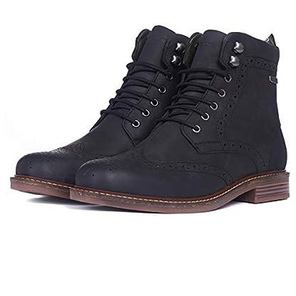 Barbour Mens Seaton Leather Walking Comfort Casual Smart Work Metal Logo Boots - Teak 2
