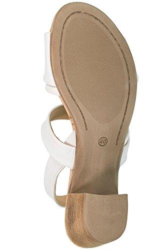 Ulla Popken Damen Große Größen Sandalette 716557 Weiß
