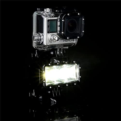 SupTig 30M Waterproof 300LM Video Light for GoPro New Hero //HERO6 //5//5 Session //4 Session //4//3+ //3//2 //1 Xiaoyi and Other Action Cameras Color : Black Durable Black