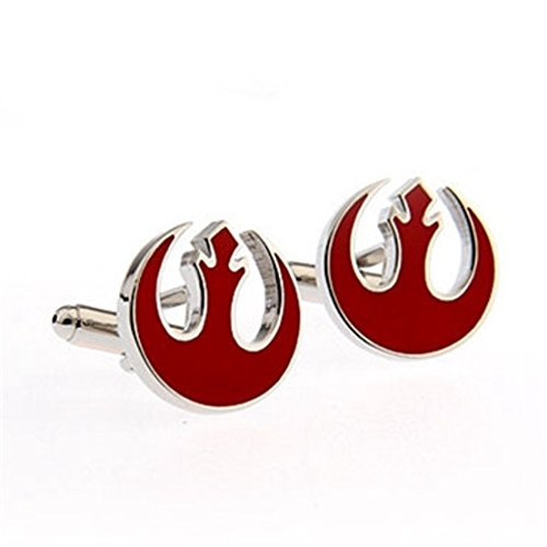 Rebel Bow Tie (BTS Star Wars Red Rebel Alliance Symbol Cufflinks Men's Novelty Cuff Links YH-1757B)
