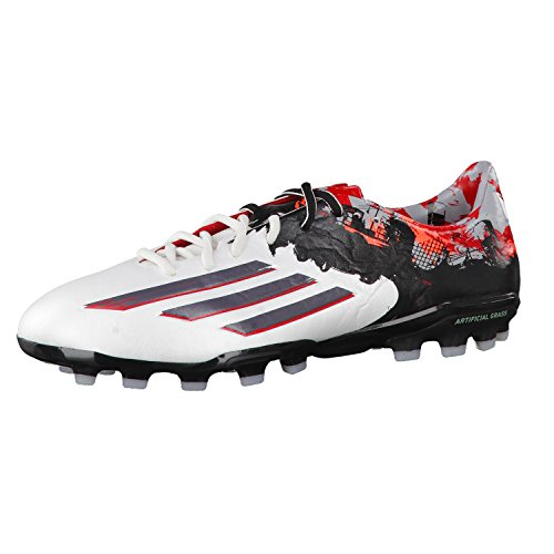 adidas Herren Fussballschuhe Messi 10.1 AG ftwr white/granite/scarlet 47 1/3