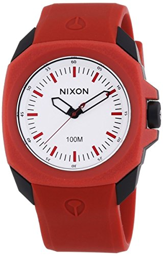 NIXON Women's 'Ruckus' Quartz Plastic and Polyurethane Casual Watch, Color:Red (Model: A349-209)