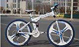 Foldable Adventure Sports MTB Cycle with Merc Tag & 21 Shimano Gears White Colour