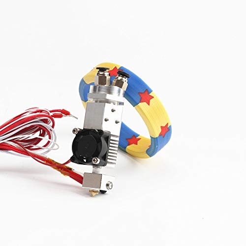 - HE3D 3 in 1 Out Multi-Color Extruder hot end Kit 24V Three Colors Switching hotend kit for 0.4mm 1.75mm 3D Printer Parts