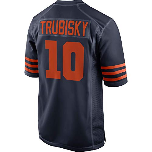 Womens/Mens_Bears_Mitchell_Trubisky_Navy_Blue_Throwback_Game_Jersey