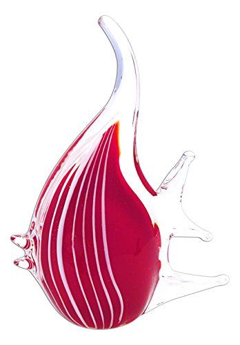 SPI Home Art Glass Red Angel - Glass Fish Angel Art