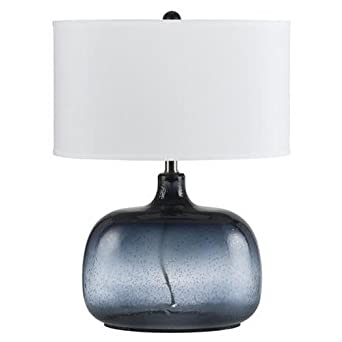 Navy Blue Table Lamps: CAL Lighting BO-2263TB Christi Navy Blue Glass Table Lamp,Lighting