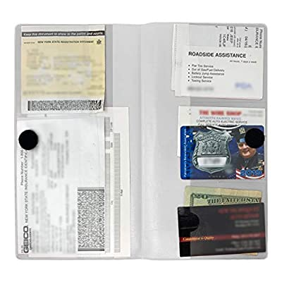 Deluxe Car Insurance and Registration Card Holder - Premium Quality Automobile Essential Documents Wallet, White: Automotive
