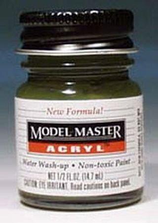 Dark Green Testors Acrylic Plastic Model Paint