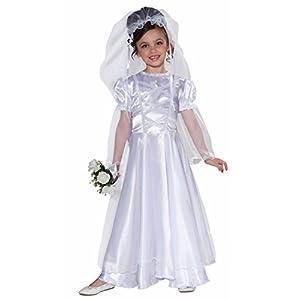Forum Novelties Little Bride Wedding Belle Child Costume Dress and Veil, Toddler