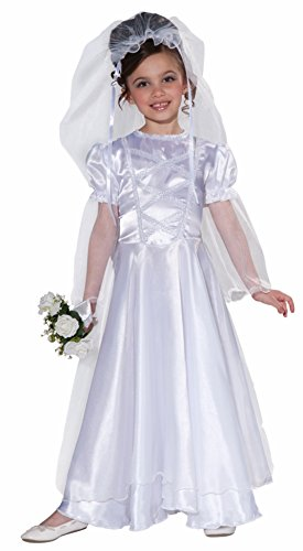 Forum Novelties Little Bride Wedding Belle Child Costume Dress and Veil, Large -
