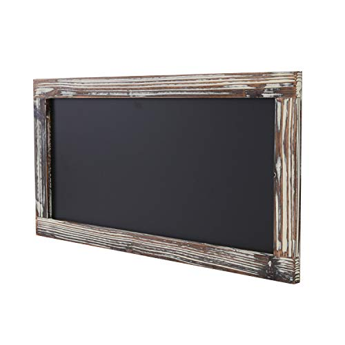 Liry Products Vintage Rustic Brown Torched Wood Framed Blackboard Wall Dcor Hanging Chalk Board Sign Erasable Memo Chalkboard Message Display Store Sign Restaurant Caf Bar Kitchen Classroom Wedding