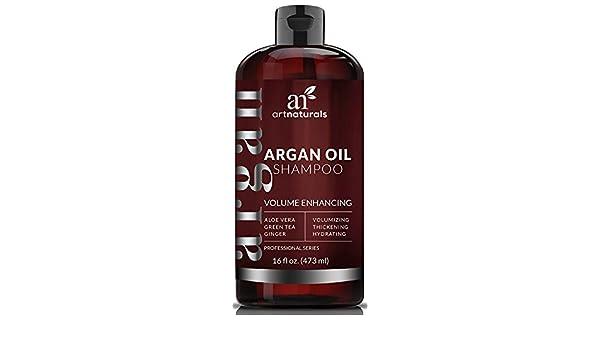 ArtNaturals Argan Oil Shampoo Volumen Mejorando con Aloe Vera, Té Verde y Jengibre (16 onzas, 473 ml) ArtNaturals Argan Oil Shampoo Volume Enhancing with ...