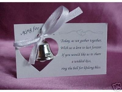 (Silver Wedding Mini Bell Decorations Favors (Set of)