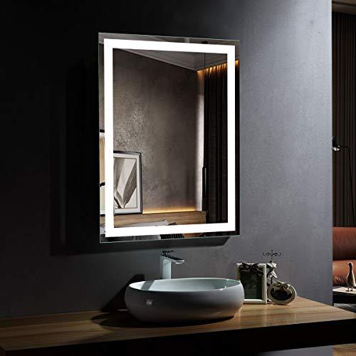 DP Home Lighted Bathroom Vanity Mirrors Wall Mounted, Backlit Bathroom Mirror with - Mirrors Backlit Usa Bathroom