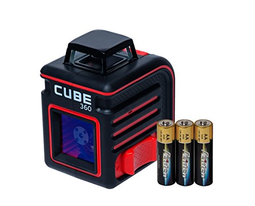AdirPro Cube 360 Horizontal Cross Line Laser with Accessories, Red/Black by AdirPro (Image #2)