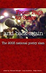 From Page to Stage and Back Again, 2003 National Poetry Slam