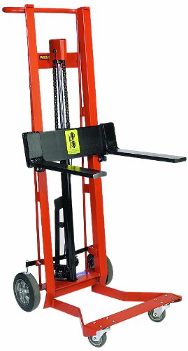 22.5x x 32 x 60.5 750-lb Wesco 260012 Steel Frame Four-Wheeled Hydraulic Forked Pedalift Capacity 54 Lift Height