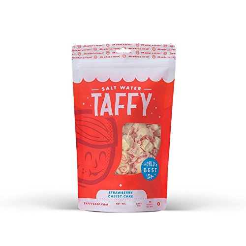 Taffy Shop Strawberry Cheesy Cake Salt Water Taffy - 1/2 LB - Nut Cake Apple
