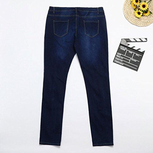 Dimensioni Distrutti Scuro Blu Muscolosi Strappati Funky Jeans Pantaloni Resistente Grandi Dall'aspetto Casual 7xl Fit Cowboy 2xl Mode Vintage Donna Leey Loose Baggy T1RnvwxpqP