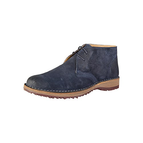 Bottines Italia Homme Shoes in Chukka Made Bleu fBtqww