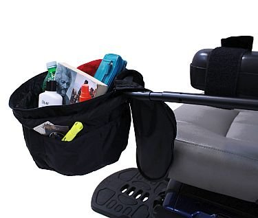 Front Zippered Bag for Power Chairs, Scooters, and Wheelchairs 7'' x 12''