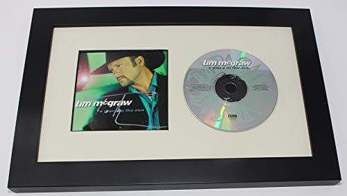 - Tim McGraw A Place In the Sun Signed Autographed Music Cd Insert Compact Disc Custom Framed Display Loa