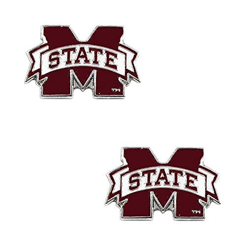 aminco Mississippi State Bulldogs Post Stud Logo Earring Set Ncaa Charm