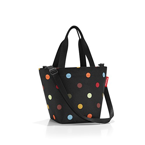 S, Extra Small Zippered Tote Bag with Shoulder Strap, Dots (Small Tote)