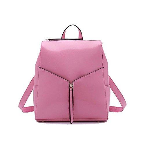 Main Mode Dos Coréen Voyager Couleur Polyvalent Shopping Sac Sac Sac AJLBT Pink à Femme Pour à Simple HggqvT