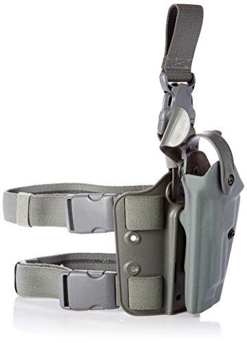 Safariland 6005 Tactical Gun Holster, SLS Hood, Quick Release Leg Harness, Foilage Green, Left Handed, Beretta 92, 96