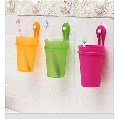Sucking Disc Frosted Toothbrush Cup(Random Color)