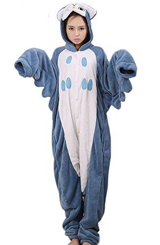 LATH.PIN Animal Carnaval Disfraz Cosplay Pijamas Adultos Unisex Ropa De Noche S/M/L/XL Owl