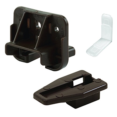 Slide-Co 223887 Drawer Track Guide and Glides – Replacement Furniture Parts for Dressers, Hutches and Night Stand Drawer Systems (Pack of 2) (Parts Furniture Replacement)