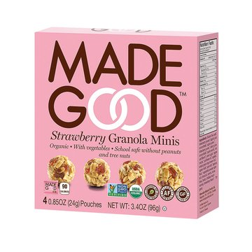 Made Good Strawberry Granola Minis 3.4 oz (Pack of 2)