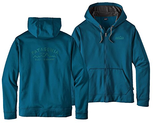 Patagonia Men's Arched Type 73 Poly Cycle Full Zip (Big Sur Blue, - Patagonia 20