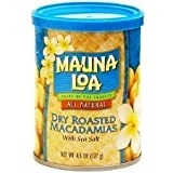Hawaiian Lunch Bag Gift Basket Mauna Loa Dry Roasted Macadamia Nuts & Sea Salt 6 Cans #10 by Mauna Loa