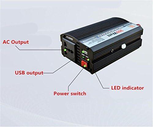 Inverter,Inverter di potenza 500 W DC 12 V a 220V CA Alimentatore di potenza inverter USB Power Emergency Outdoor (argento)