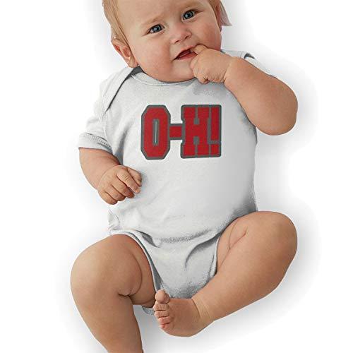 Ohio State O-H Funny Baby Onesies Novelty Toddler Infant Bodysuits Short Sleeve 0-3M White