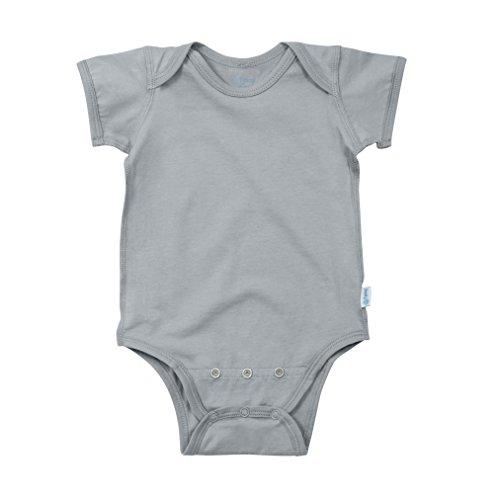 i play. Baby Organic Adjustable Bodysuit, Gray, 24mo