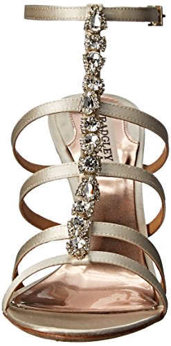 Badgley Mischka Womens Elect Sandal Ivory Satin